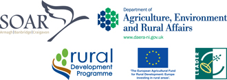 This project was part-funded under Priority 6 (LEADER) of the Northern Ireland Rural Development Programme 2014-2020 by the Department of Agriculture, Environment and Rural Affairs and the European Union.
