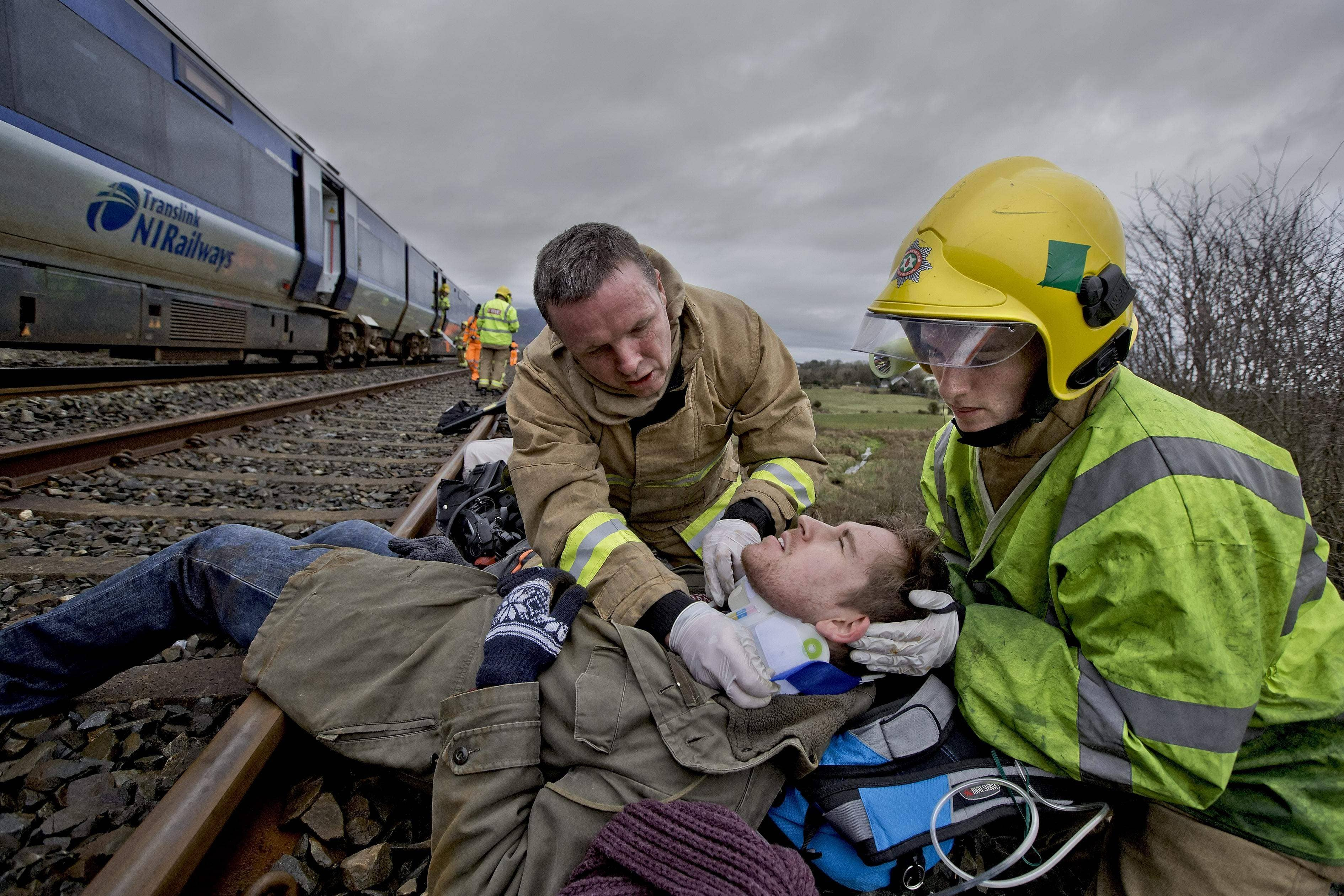 Emergency responce exercise, Newry. Picture by Brian Morrison.