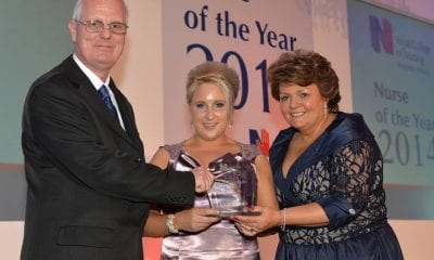 Sam Porter and Janice Smyth (R) with Student Nurse of the Year winner Jenny Mills