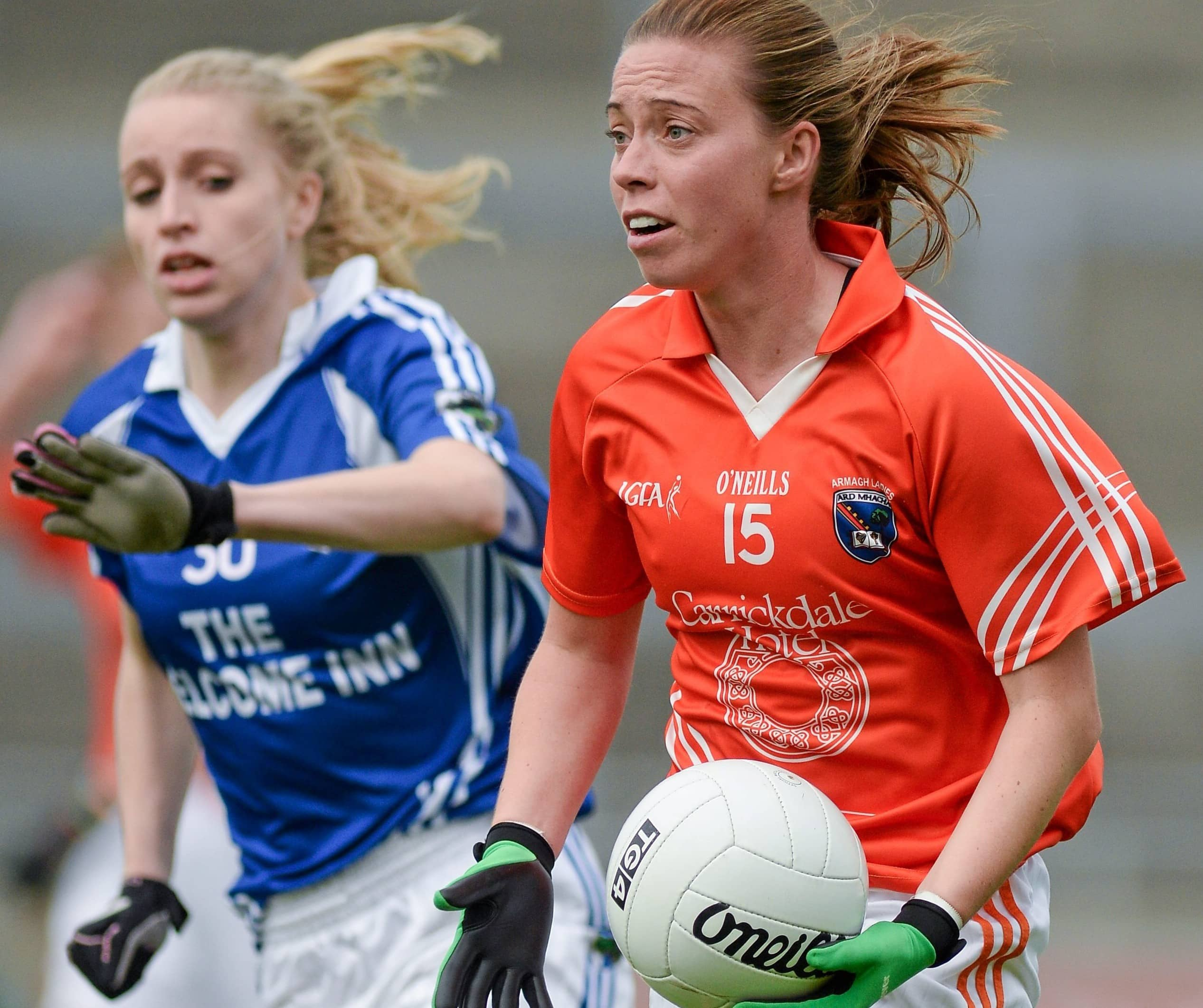 Mags McAlinden in action for Armagh