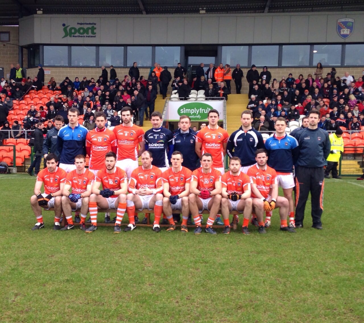 Armagh team vs Tyrone in Dr McKenna Cup, January 2015