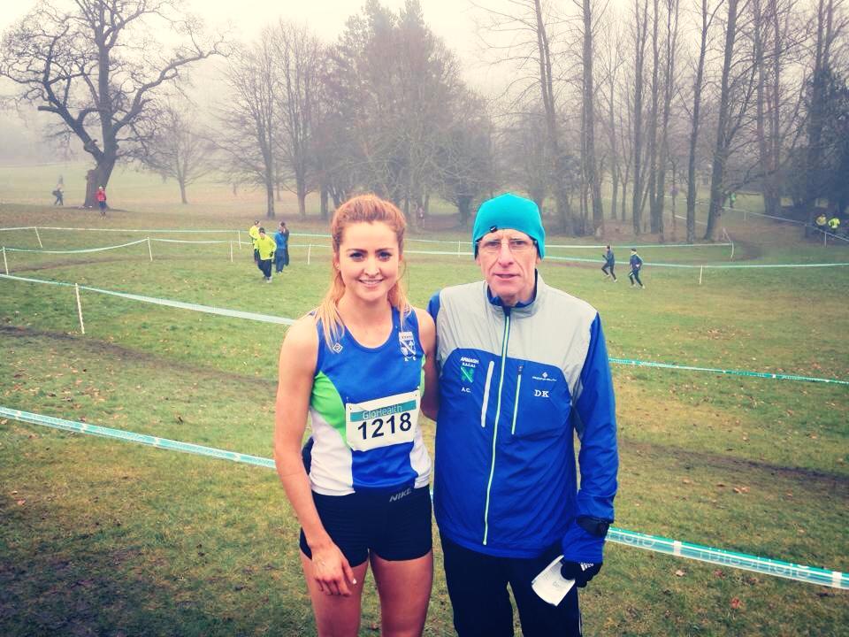Danielle Fegan with Armagh AC coach Dermot Kerr