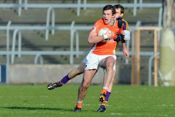 Action from Armagh vs Wexford in the Allianz National League. Photo by John Merry.