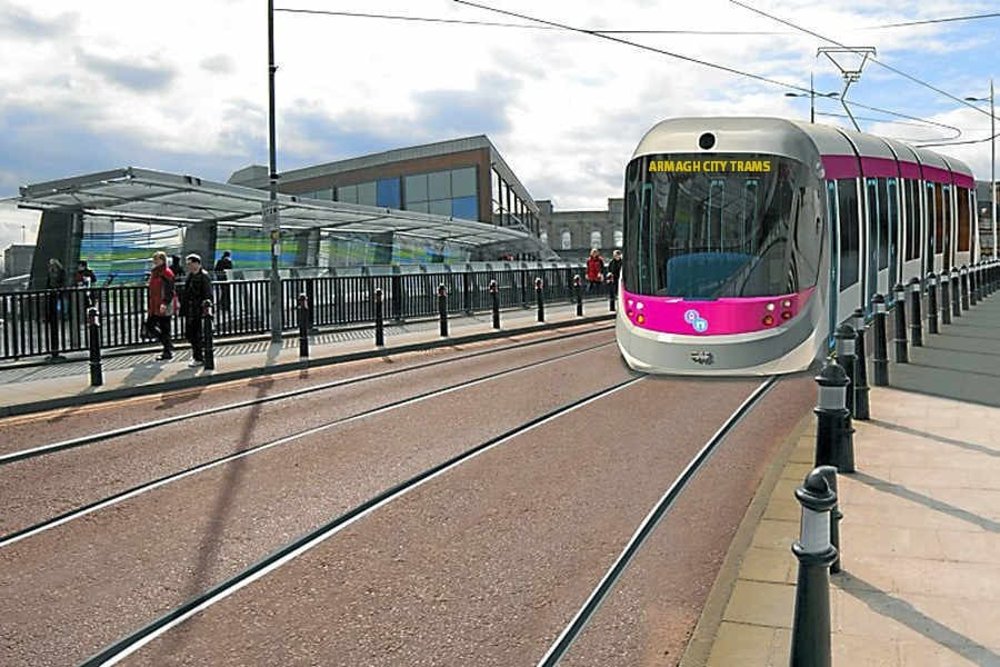 Artist impression of the new Tramway system on the Mall