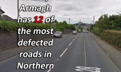 County Armagh has 12 of the most defected roads in Northern Ireland