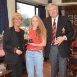 Vicky Irwin receives award as outstanding lady player of the year