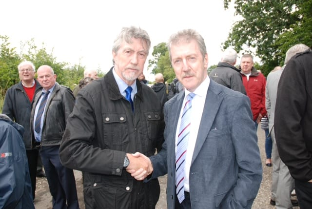Mickey Brady with Stephen Travers who survived the massacre