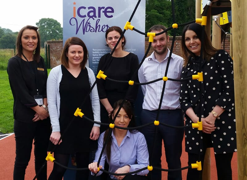 Taking part in the abseil are, from left; Charmaine Hamilton, Eleanor Garvey, Jane Garvey, Charlene McCoy, Peter Grimley and Mairead Mackle, CEO Homecare Independent Living.