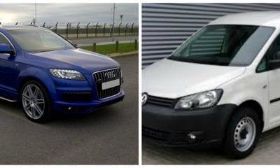 An Audi Q7 and white Volkswagen Caddy van were stolen