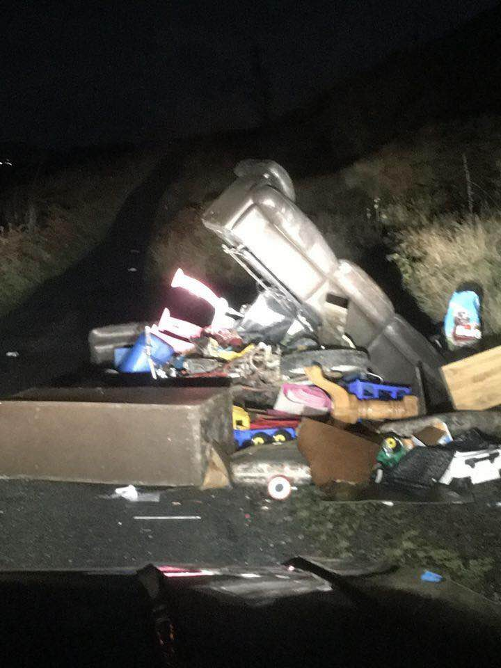 Dumping on the Ballynaleck Road in Camlough