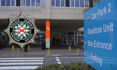 Police intervened at Craigavon Hospital