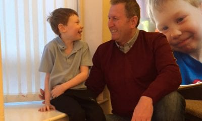 Doug Beattie and grandson Bradley