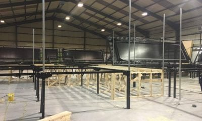 Inside the new trampoline park at the Outlet in Banbridge