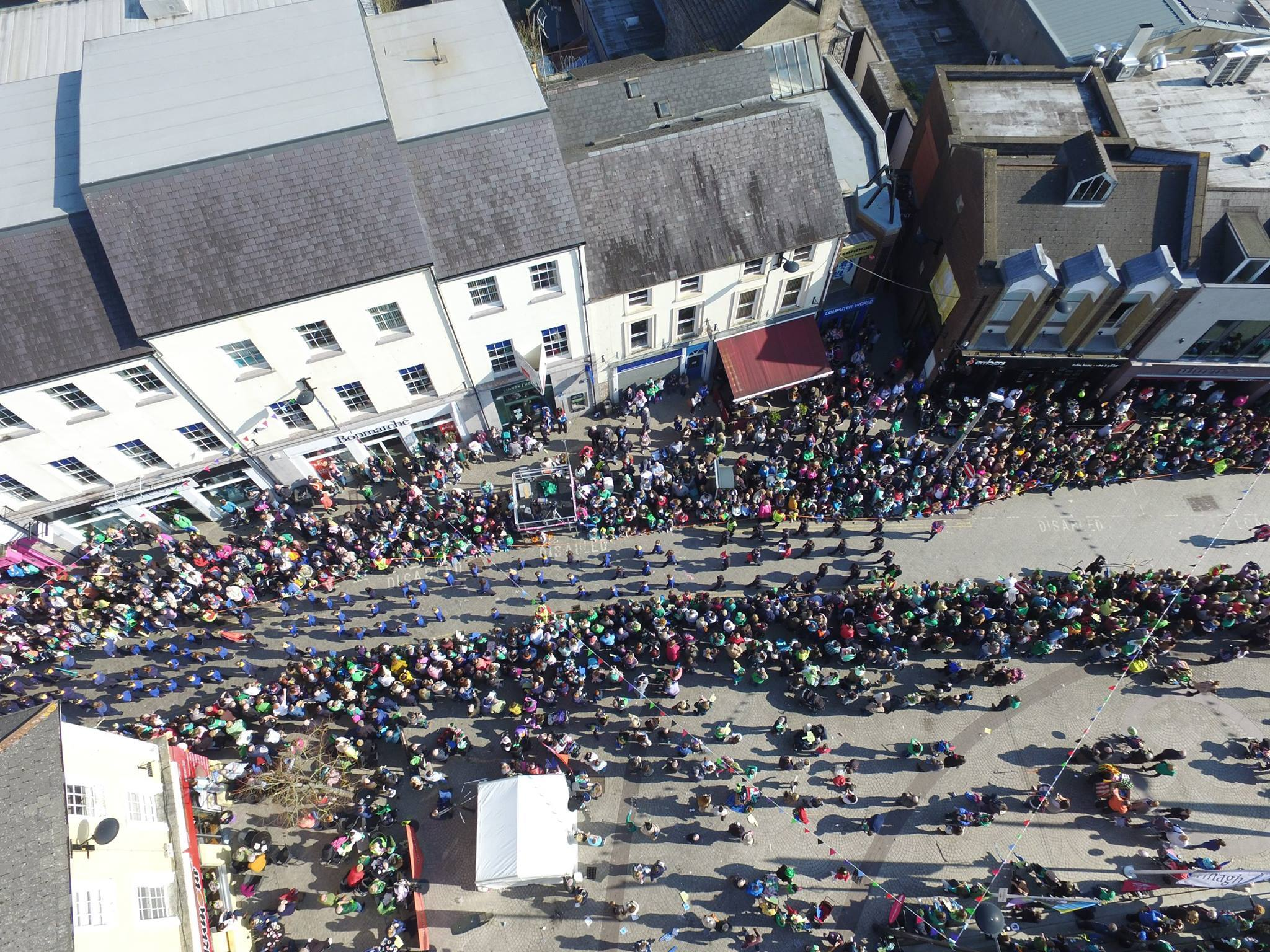 St Patrick's Day, Armagh 2016. Pic: GN Drone Works