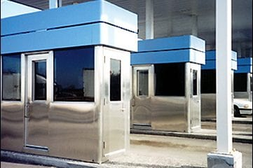 Temporary steel toll booth will be put in place