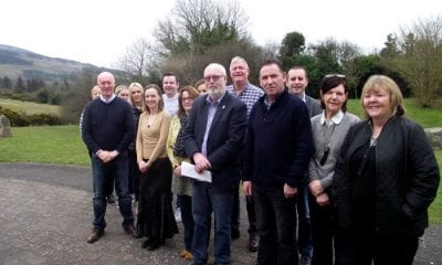 Members of Camlough Community Association,Muirhevnamor Youth Project and the International Fund for Ireland