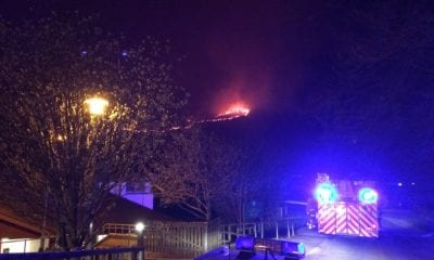 Slieve Brack mountain on fire. Pic: NIFRS South