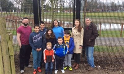Cllr Gemma McKenna with local residents at Portadown People's Park