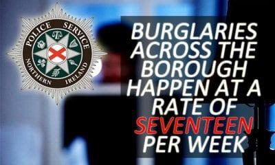 Burglaries across Armagh, Banbridge and Craigavon occur 17 times a week