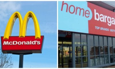 McDonald's and Home Bargains