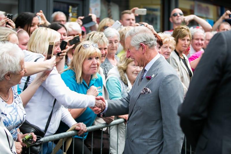Charles and Camilla visit Yellow Door in Portadown
