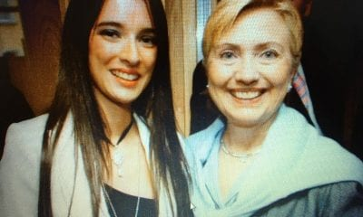Sharon Haughey-Grimley and friend Hilary Clinton