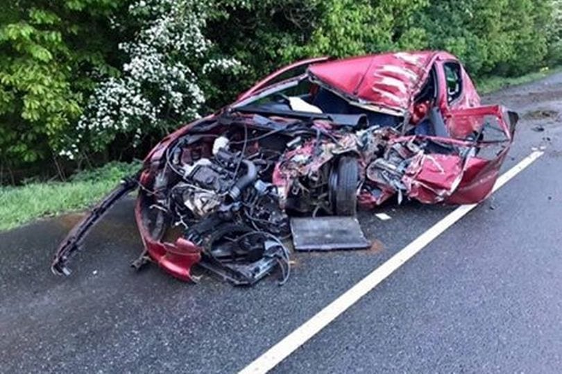 PSNI release shocking image of car wreckage after two ...