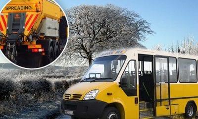 School bus gritter frost