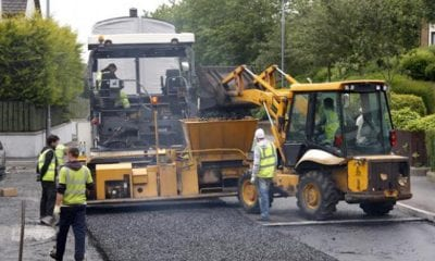 road-resurfacing roadworks