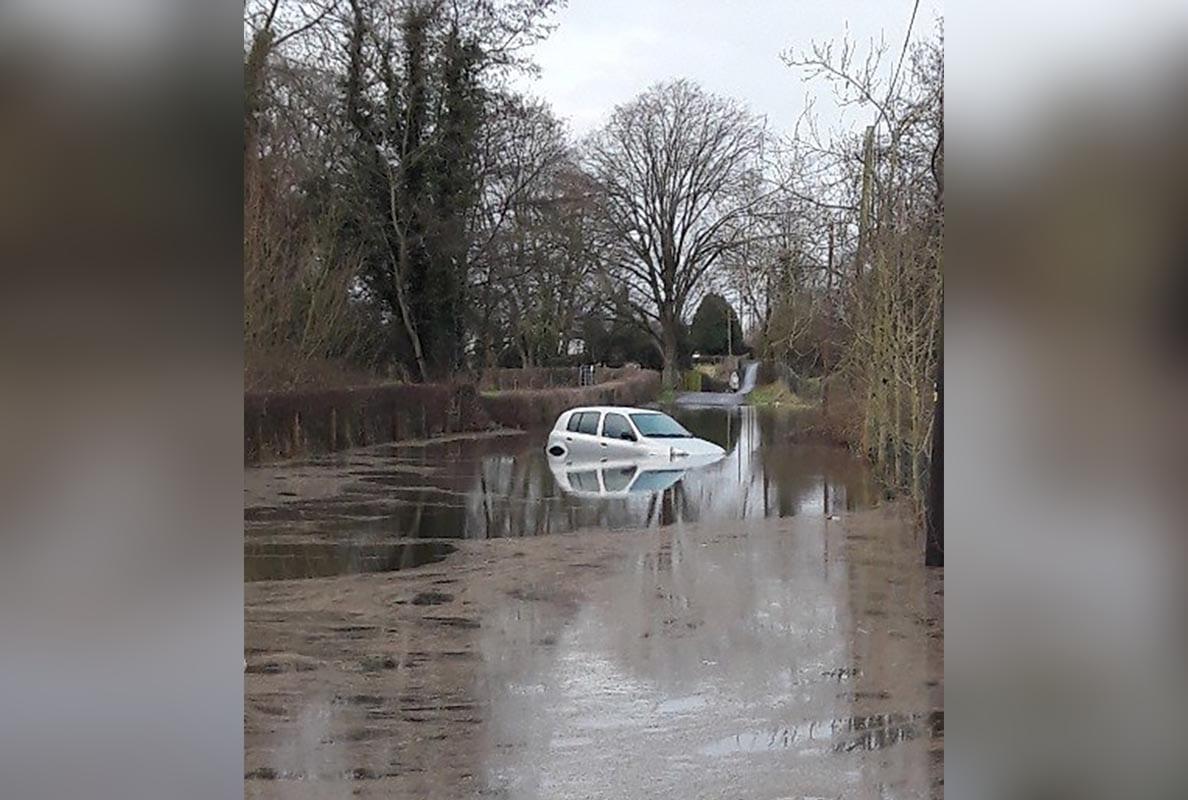 Car submerged Loughgall