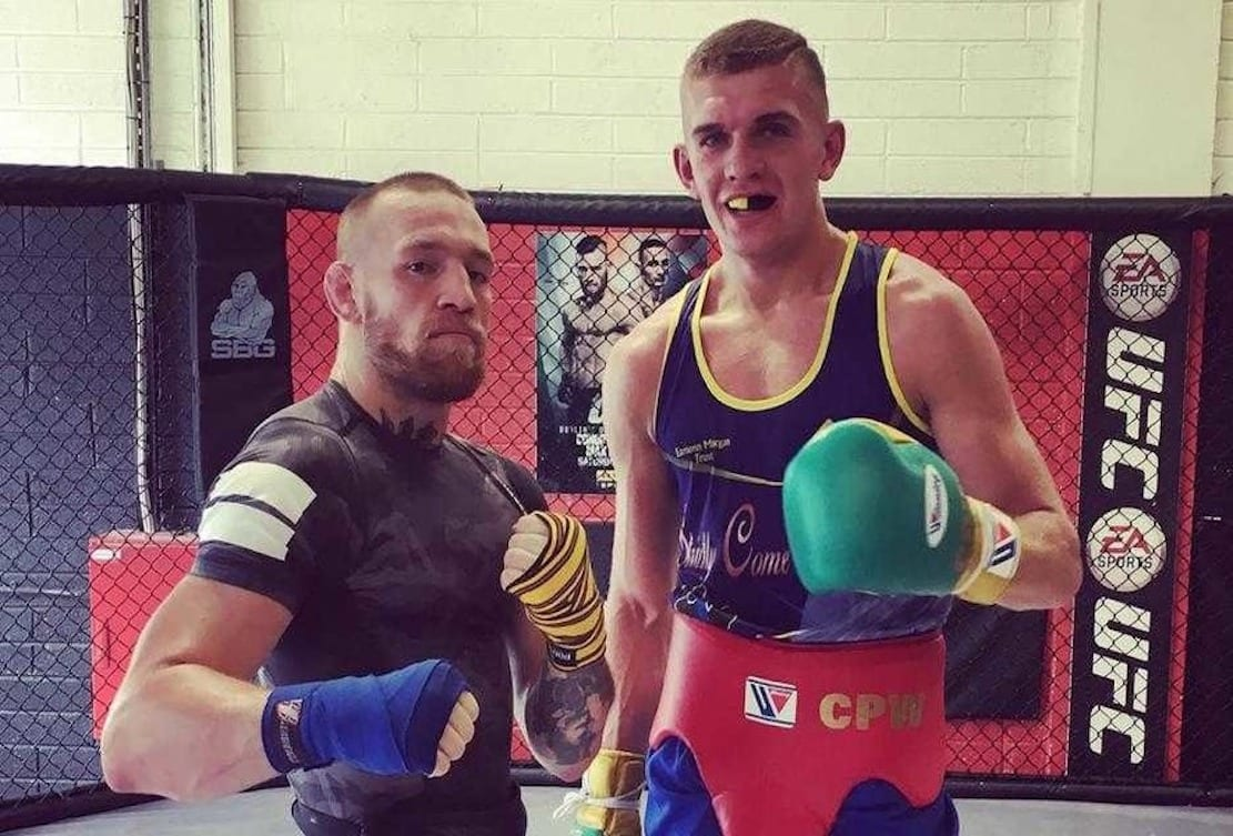 Conor Wallace with Conor McGregor