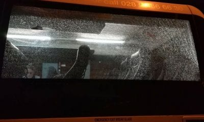 Translink bus smashed camlough road newry