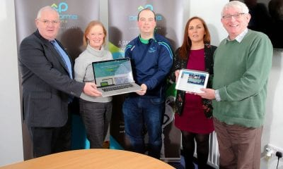 Pictured: Councillor Gordon Kennedy, Therese Rafferty, Head of Department: Regeneration, Danny Turley, CEO of PS, Elaine Cullen, Rural Development Programme Manager, and Bryan McLaughlin – LAG Chairperson.