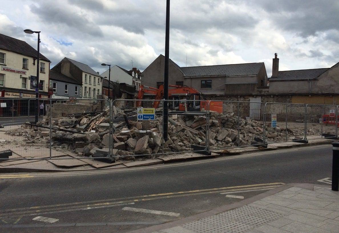 Former Irish station in Armagh demolished to make way for new Irish Language Centre