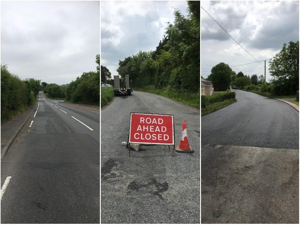 Roadworks Derrymacash