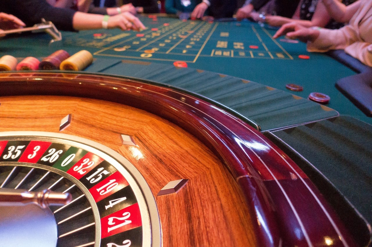 Roulette wheel gambling