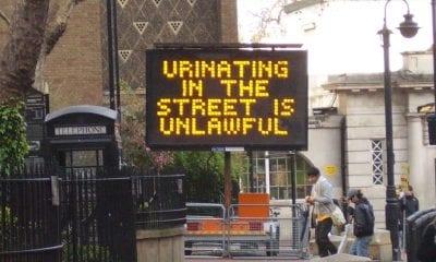 Urinating in street