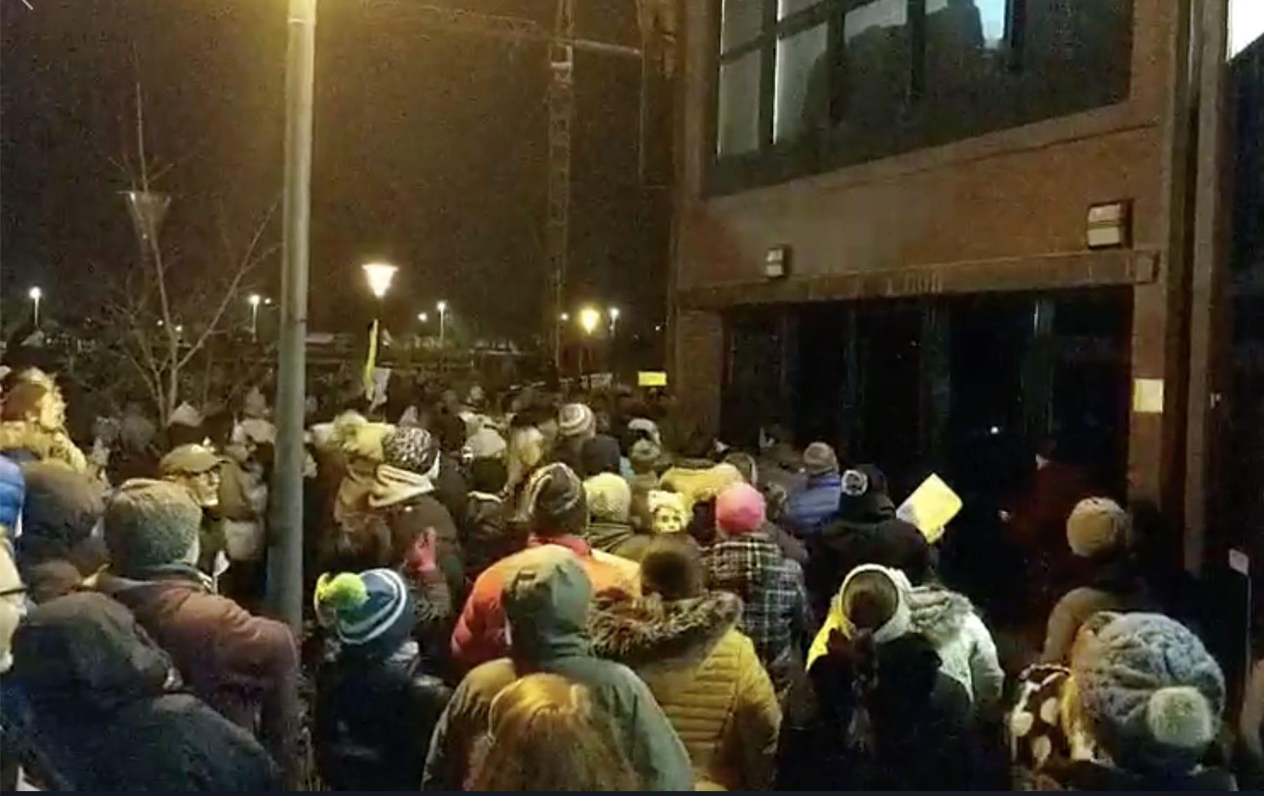 Craigavon Civic Centre protest