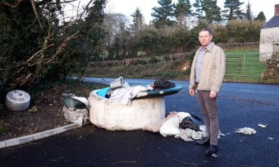 Sinn Fein councillor Mickey Larkin fly-tipping Slieve Gullion