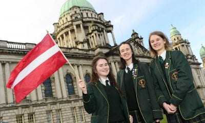 St Catherine's College: (from left) Genevieve McGeown, Ellie Traynor and Zuzanna Osinska recently put their debating skills to good use when they represented Latvia at this year's Mock Council of the European Union. The event, which is now in its 14th year, is organised by British Council Northern Ireland and saw 26 schools from across Northern Ireland tackle two topical issues: Migration and Climate Change. For more information on British Council Northern Ireland visit http://nireland.britishcouncil.org or follow on Twitter: @BCouncil_NI