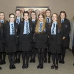 International Women's Day event, Craigavon Civic Centre 5th March 2019, Portadown College students with Teacher Naomi Mintgomery. ©Edward Byrne Photography