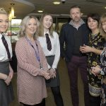 International Women's Day event, Craigavon Civic Centre 5th March 2019, Lord Mayor Cllr Julie Flaherty, Cllr Cathyerine Nelson, Cllr Sam Nicholson and Cllr Margaret Tinsley with students Chantelle Kinnersley and Holly Wakenshaw. ©Edward Byrne Photography