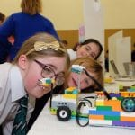 Drumillery Primary School Students make some last minute adjustments. The Lego Mindstorm project brings children and teachers from primary schools together for Lego Mindstorm Workshops and subsequently for Space Challenge Competitions and Exhibitions of Project work and Project Sharing ideas. Peace by PIECE Lego Mindstorm funded by Peace IV co-ordinated by CMETB Tommy Makem Centre Keady Co.Armagh 9 3 2019 CREDIT: LiamMcArdle.com
