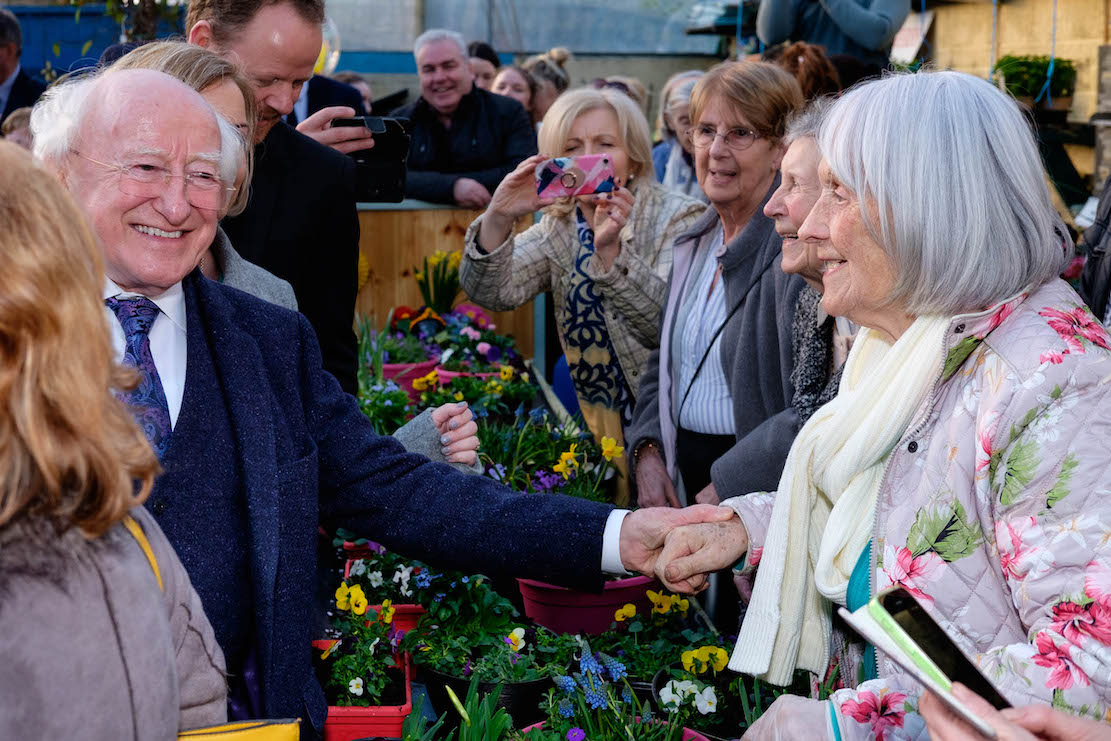 President Michael D. Higgins and his wife Sabina visited An Tobar in Silverbridge on Thursday 7 February. Photograph: Columba O'Hare/ Newry.ie