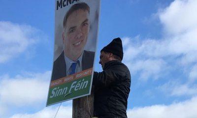 Election posters Sinn Fein Darren McNally