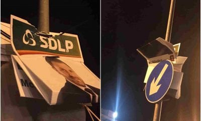 SDLP election posters vandalised