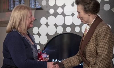 Southern Regional College's Marilyn Warren was thrilled to be presented with the award by HRH Princess Anne