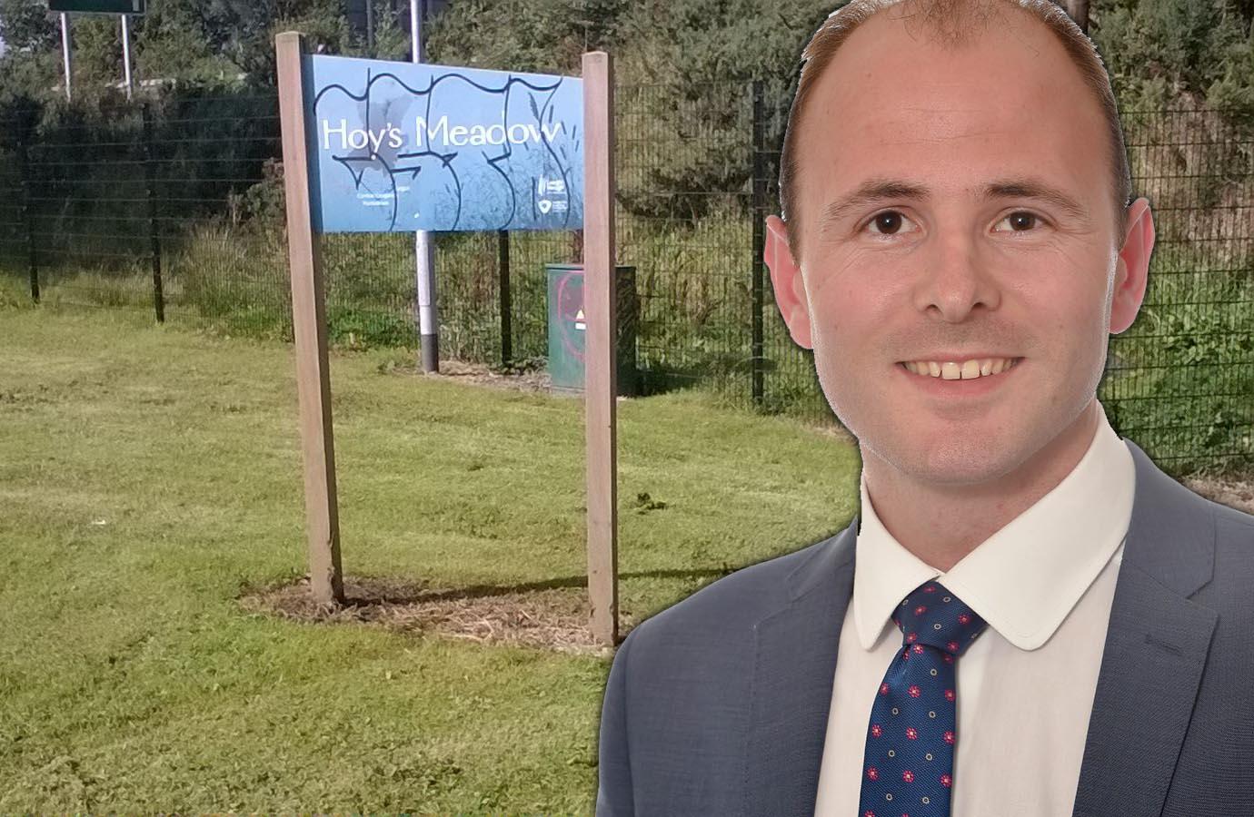 Hoy's Meadow Portadown councillor Darryn causby