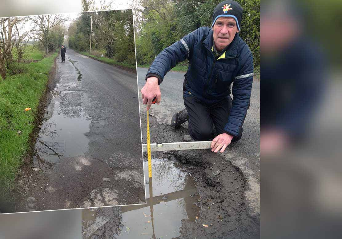 Terry Hearty botched pothole