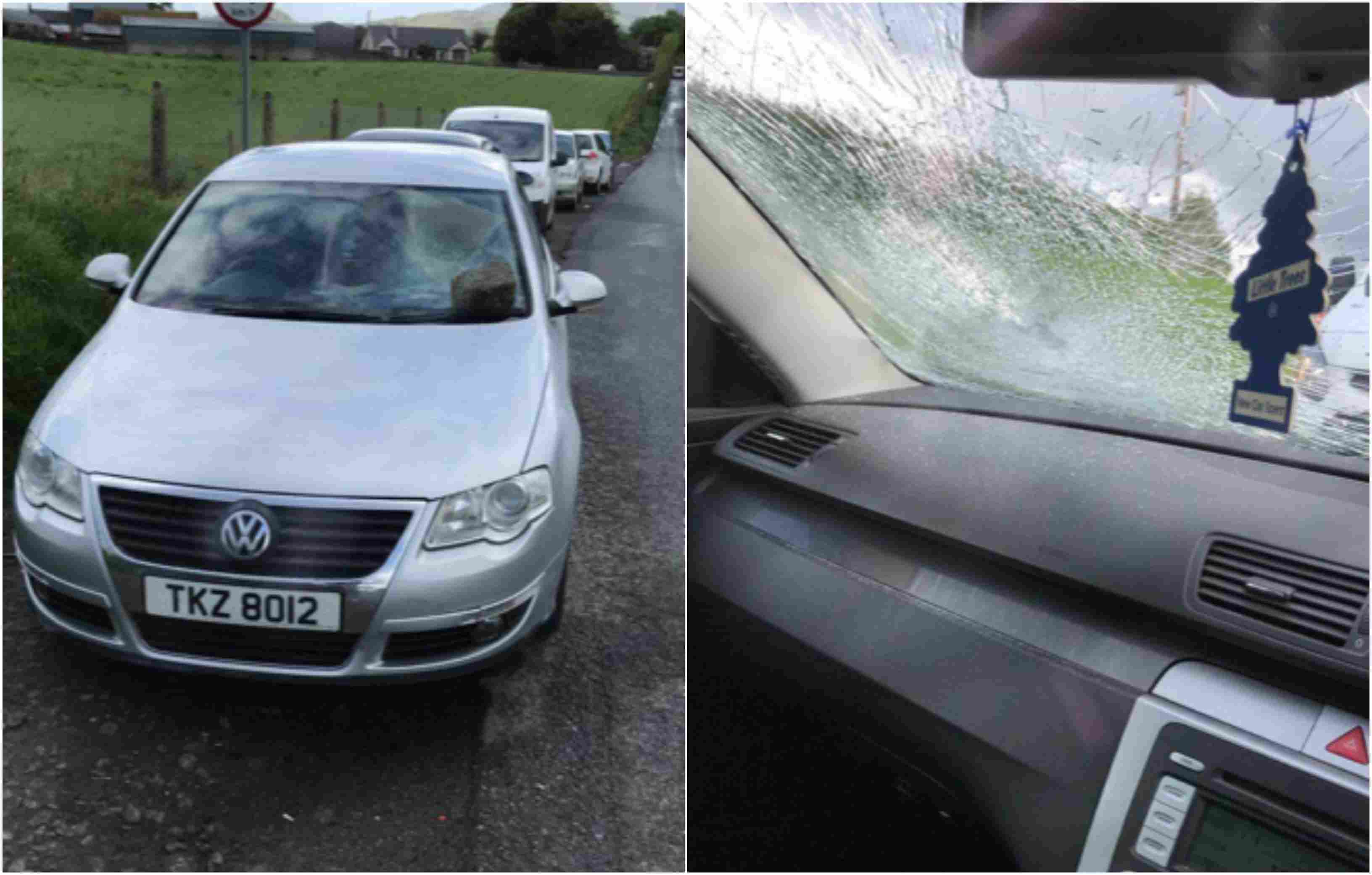 Car smashed Hackballscross